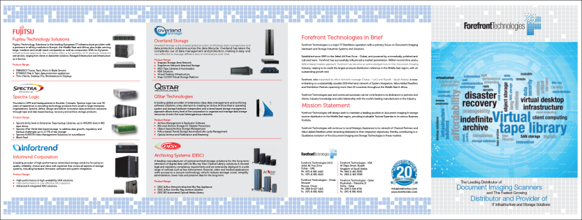 Forefront Technologies Storage Brochure